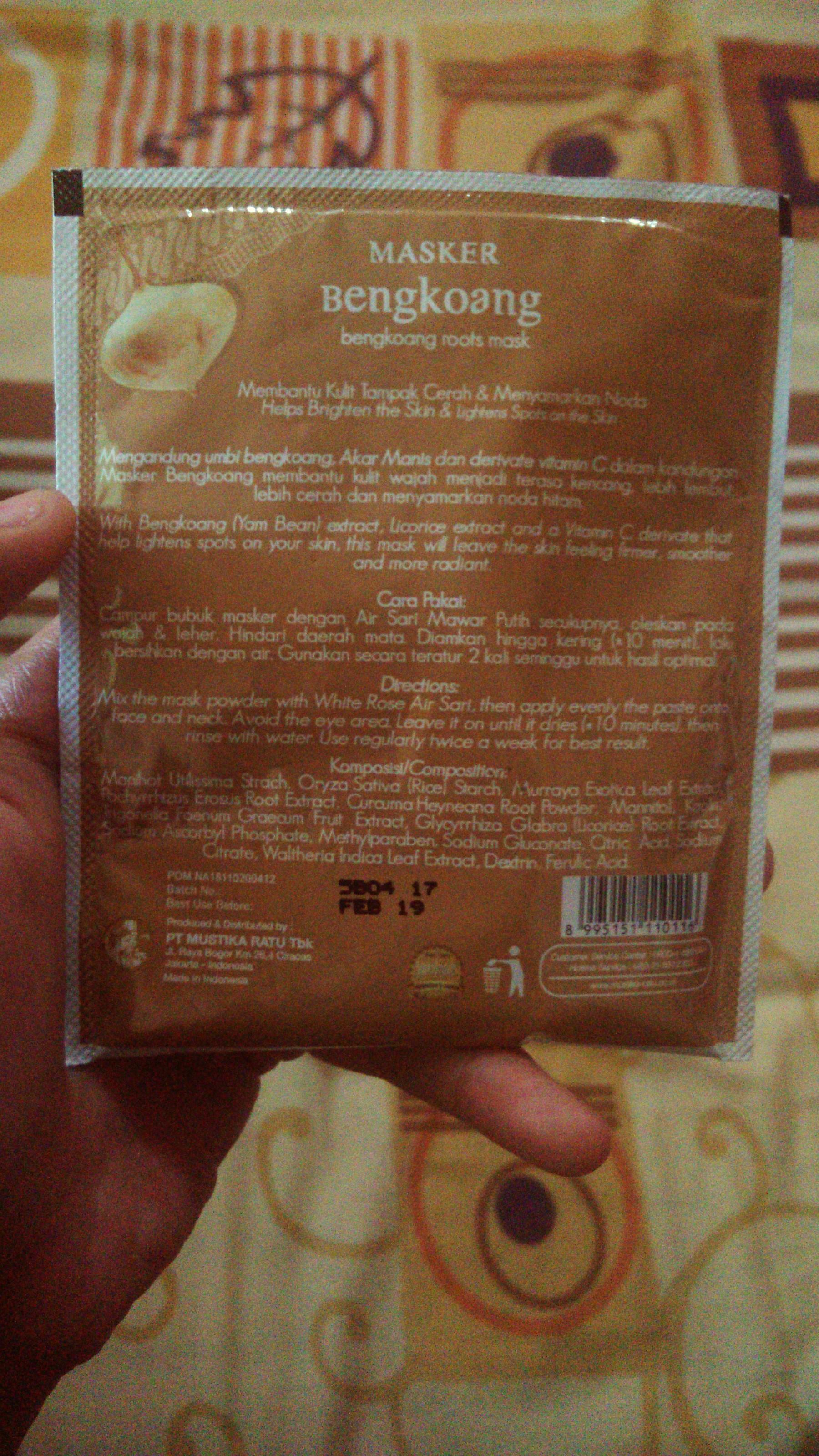 Review Mustika Ratu Air Sari Mawar Putih Review Masker